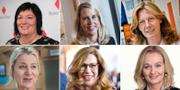 Några av börsens kvinnliga vd:ar. Petra Einarsson, vd Billerud Korsnäs, Helena Stjernholm, vd Industrivärden, Anette Frumerie, vd Besqab, Annette Brodin Rampe, vd Engelska Skolan, Birgitte Bonnesen, vd Swedbank och Carina Åkeström, ny vd Handelsbanken.  TT