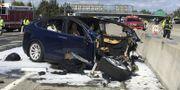 Bild från olyckan i Mountain View den 23 mars i år. TT