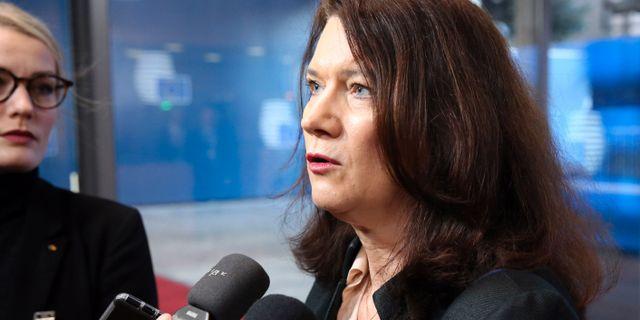 Utrikesminister Ann Linde  FRANCOIS WALSCHAERTS / TT NYHETSBYRÅN
