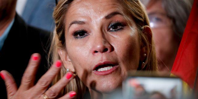Jeanine Anez Natacha Pisarenko / TT NYHETSBYRÅN