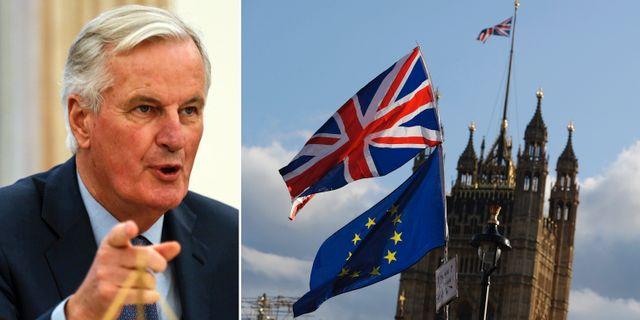 Michel Barnier, brittiska parlamentet. Arkivbilder. TT