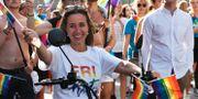 Filippa Reinfeldt under Stockholm Pride i början av augusti. Stina Stjernkvist/TT / TT NYHETSBYRÅN