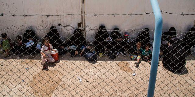Arkivbild från al-Hol-lägret.  Baderkhan Ahmad / TT NYHETSBYRÅN