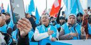 Uigurer demonstrerar mot Kina i Schweiz i november 2018. Salvatore di Nolfi / TT NYHETSBYRÅN/ NTB Scanpix