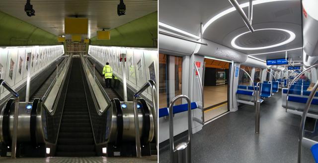 Bilder från tunnelbanan i München TT