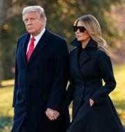 Donald Trump och hustrun Melania. Evan Vucci / TT NYHETSBYRÅN