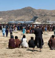 Flygplatsen i Kabul.  Shekib Rahmani / TT NYHETSBYRÅN