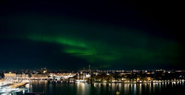 Norrsken över Stockholm. Joakim Goksör/TT / TT NYHETSBYRÅN
