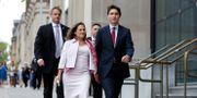 Kanadas utrikesminister Chrystia Freeland tillsammans med premiärminister Justin Trudeau (arkivbild) Chris Wattie / TT NYHETSBYRÅN