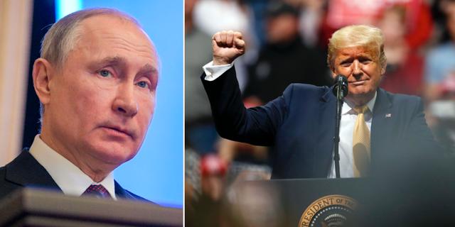 Vladimir Putin och Donald Trump TT
