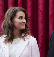 Arkivbild: Melinda och Bill Gates, april 2017.  Kamil Zihnioglu / TT NYHETSBYRÅN