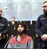 Abderrahman Bouanane i rättssalen den 9 april ANTTI AIMO-KOIVISTO / Lehtikuva
