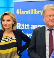 Arkivbild: Lars Adaktusson och Ebba Busch Thor i samband med att de båda presenterades som KD:s toppnamn inför EU-valet 2014. HENRIK MONTGOMERY / TT / TT NYHETSBYRÅN