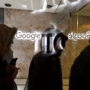 Google employees return to the company's office following a walkout in Toronto on Thursday, Nov. 1, 2018. Google employees around the world walked off the job Thursday in a protest against what they said is the tech company's mishandling of sexual misconduct allegations against executives. Cole Burston / TT NYHETSBYRÅN