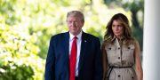 Donald Trump och Melania Trump utanför Vita huset. Alex Brandon / TT NYHETSBYRÅN