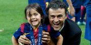 Luis Enrique och dottern Xana. Michael Probst / TT NYHETSBYRÅN