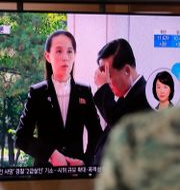 Kim Yo-Jong.  Lee Jin-man / TT NYHETSBYRÅN