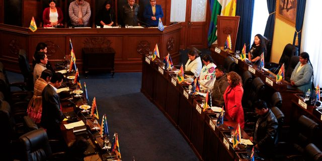 Senaten i Bolivia idag. JORGE BERNAL / AFP