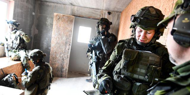 Under en militärövning. Arkivbild. Pontus Lundahl/TT / TT NYHETSBYRÅN