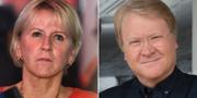 Margot Wallström och Lars Adaktusson. TT