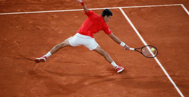 Djokovic i fjolårets final, som han förlorade mot Nadal.  Alessandra Tarantino / TT NYHETSBYRÅN