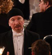 The Edge på Nobelmiddagen. TT