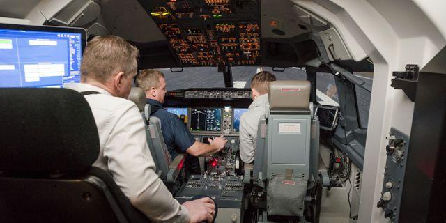 Icelandair Boeing 737 Max-simulator i Reykjavik GEIRIX / TT NYHETSBYRÅN