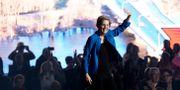 Elizabeth Warren under ett tal i Iowa.  Nati Harnik / TT NYHETSBYRÅN