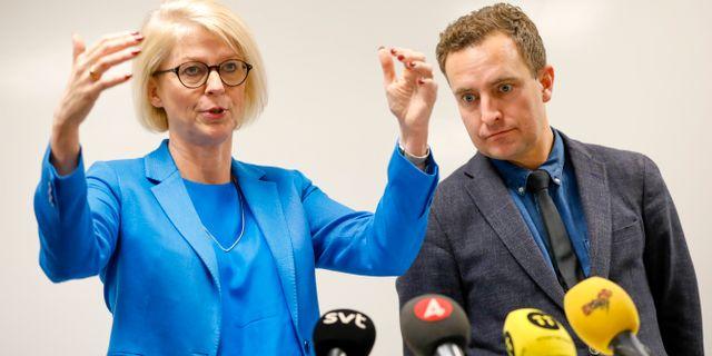 Moderaternas ekonomisk-politiska talesperson Elisabeth Svantesson och Tomas Tobé Christine Olsson/TT / TT NYHETSBYRÅN