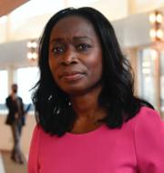 SD:s partitoppar och Liberalerna partiledare Nyamko Sabuni.  TT