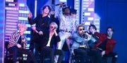 BTS under årets Grammygala i Los Angeles. Matt Sayles / TT NYHETSBYRÅN