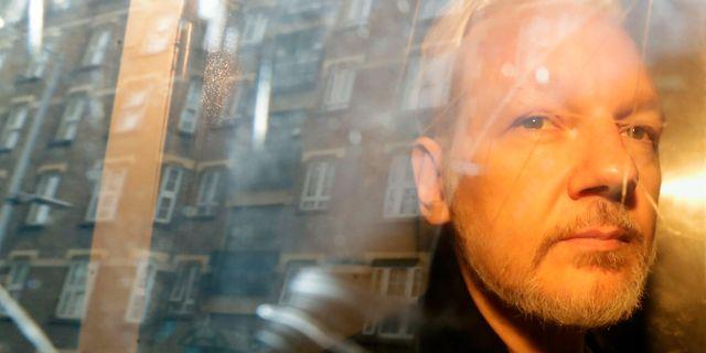 Julian Assange.  Matt Dunham / TT NYHETSBYRÅN