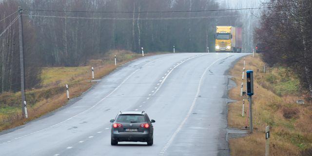 Trafik längs E4:an vid Härnösand. Fredrik Sandberg/TT / TT NYHETSBYRÅN