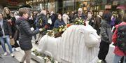 Årsdagen av terrordådet på Drottninggatan. Claudio Bresciani/TT / TT NYHETSBYRÅN