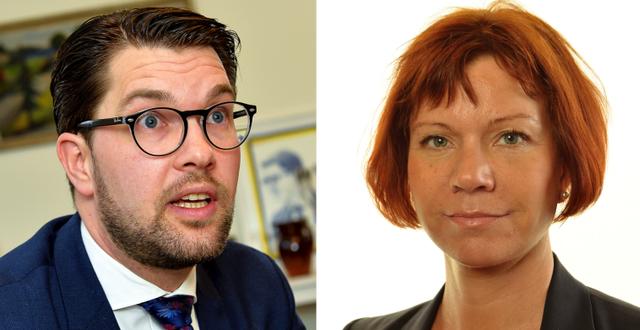 Jimmie Åkesson, Margareta Larsson. TT