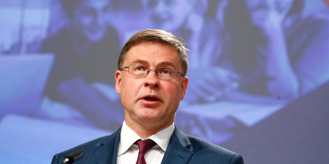 Valdis Dombrovskis.  Francois Lenoir / TT NYHETSBYRÅN