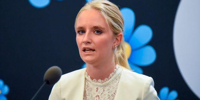 Ebba Hermansson (SD).  Hanna Franzén/TT / TT NYHETSBYRÅN