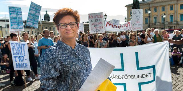 Vårdförbundets ordförande Sineva Ribeiro. Arkivbild. Thomas Johansson/TT / TT NYHETSBYRÅN