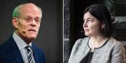 Stefan Ingves, chef för Riksbanken, och Elisabet Kopelman, SEB:s USA-ekonom.  TT