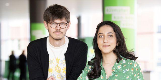 Grön Ungdoms språkrör David Ling och Aida Badeli.  TT