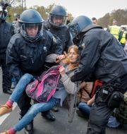 Bild från demonstrationerna Markus Schreiber / TT NYHETSBYRÅN