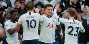 Tottenham firar 2–1-målet. ANDREW COULDRIDGE / BILDBYRÅN