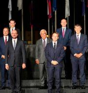 EU-ledare på plats i Slovenien. Darko Bandic / TT NYHETSBYRÅN