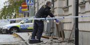 Bild efter en explosion på Södermalm tidigare i höst.  Janerik Henriksson/TT / TT NYHETSBYRÅN