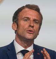 Emmanuel Macron och Abdelmadjid Tebboune. TT
