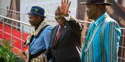 Cyril Ramaphosa på väg att sväras in som president. YESHIEL PANCHIA / POOL