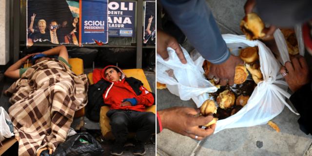 Hemlösa i Buenos Aires.  TT