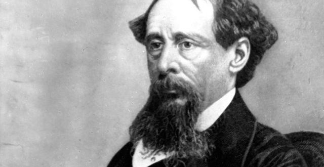 Författaren Charles Dickens.  TT NYHETSBYRÅN