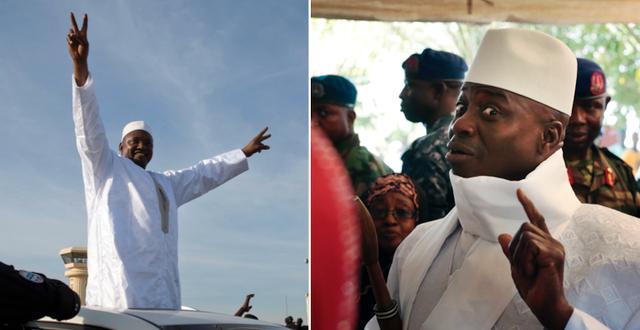 Adama Barrow och  Yahya Jammeh TT