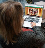 Kvinna spelar på nätkasino. Karin Wesslén / TT / TT NYHETSBYRÅN